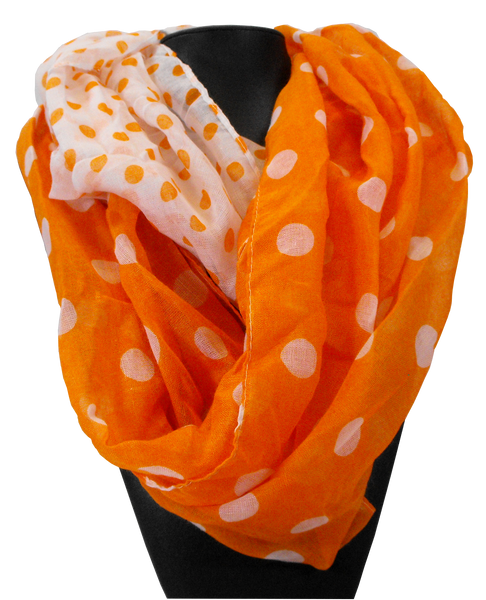 Clemson Orange and White Infinity Scarf