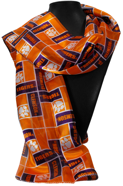 Clemson Patterned Scarf