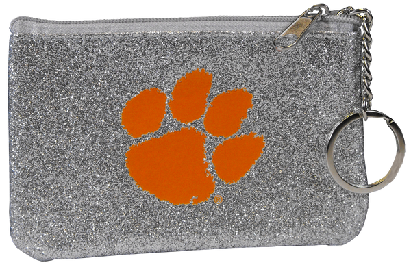 Clemson Sparkle ID Holder and Key Chain