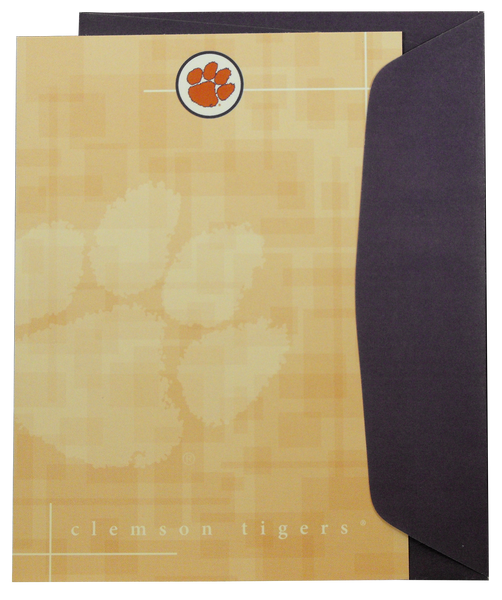 Clemson Tiger Paw Stationery Set