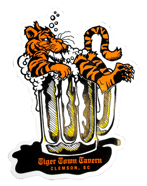 Tiger Town Tavern Decal - Tiger