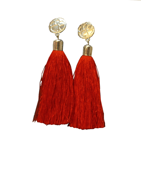 Clemson Women's Tassel Earrings
