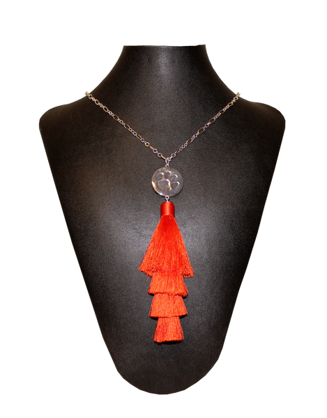 Clemson Women's Tassel Necklace