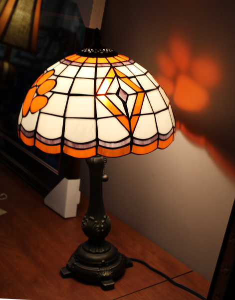 Clemson Tiffany Style Table Lamp