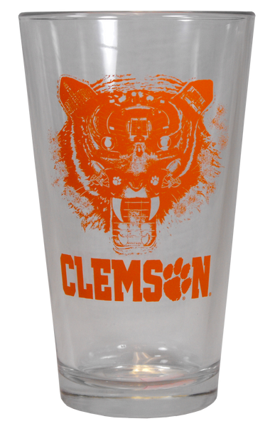 Tiger Face Drink Glass