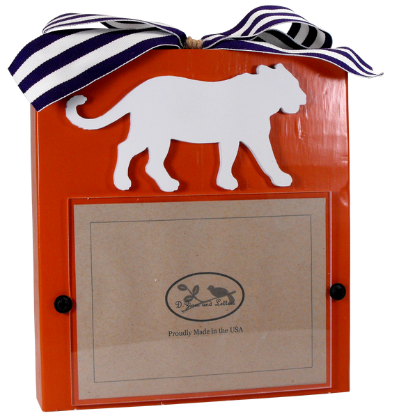 Clemson University Orange Block Frame