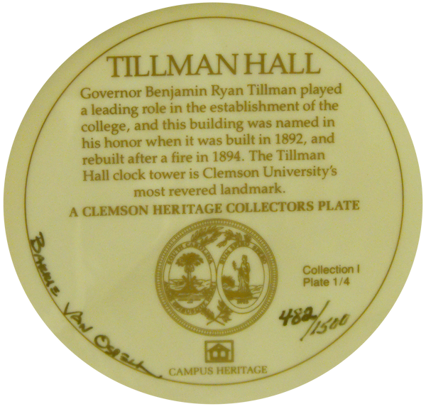 Commemorative Tillman Hall Plate