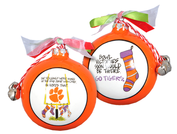 "Clemson ""Twas the Night"" Ornament"