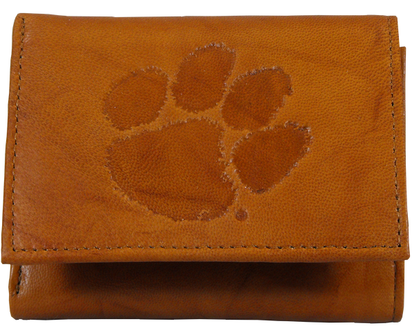 Clemson University Leather Trifold Wallet