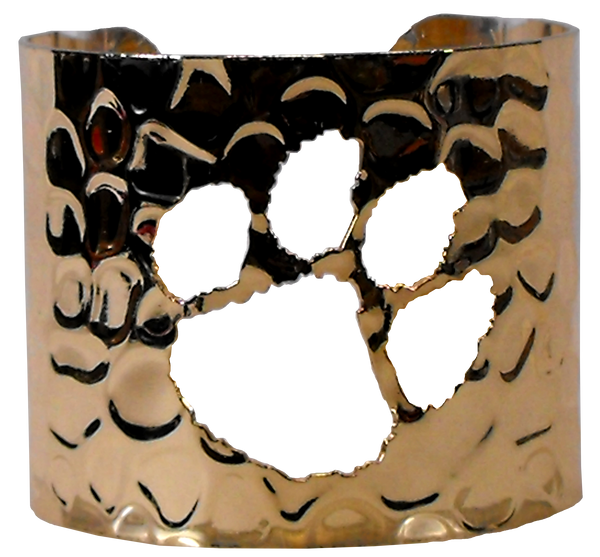 Clemson University Cut-out Cuff - Gold