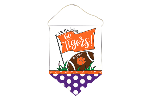 Clemson Canvas Door Hanger