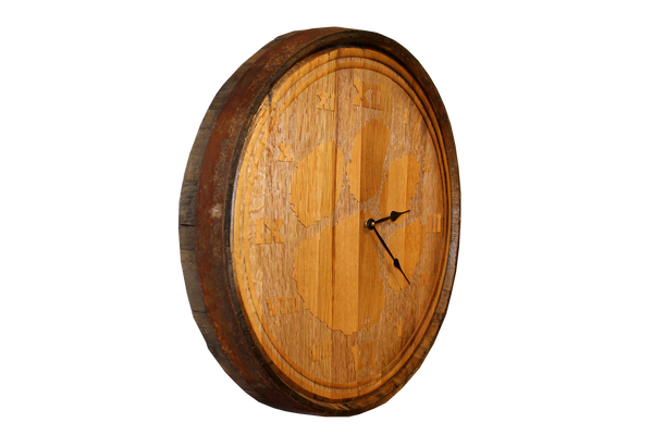 Clemson Wine Barrel Head Clock
