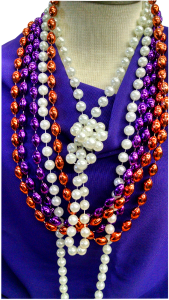 Clemson Colors Party Beads