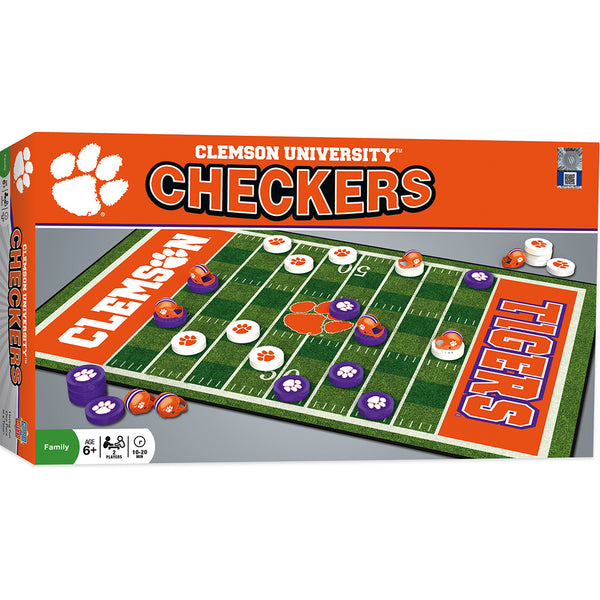 Clemson University Checkers Set