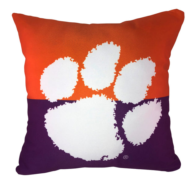Clemson Color Block Pillow