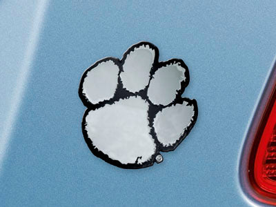 Clemson Chrome Paw Auto Decal