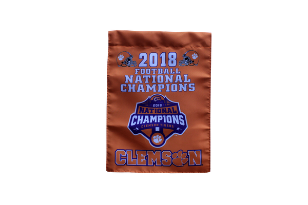 Clemson Two-Sided 2018 National Championship Garden Flag