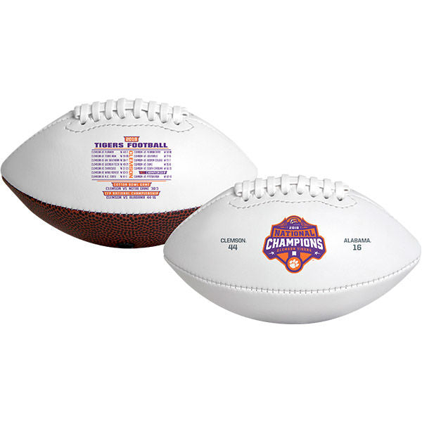 Clemson University 2018 National Champions Full Size Signature Football