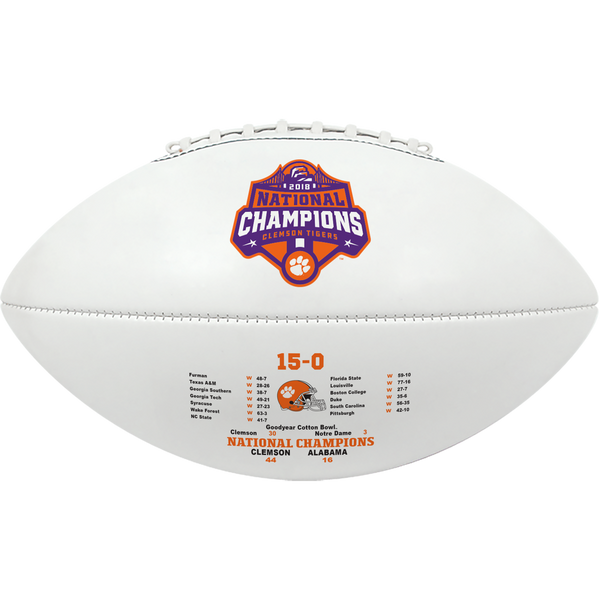 Clemson University 2018 National Champions Full-Size Commemorative Football