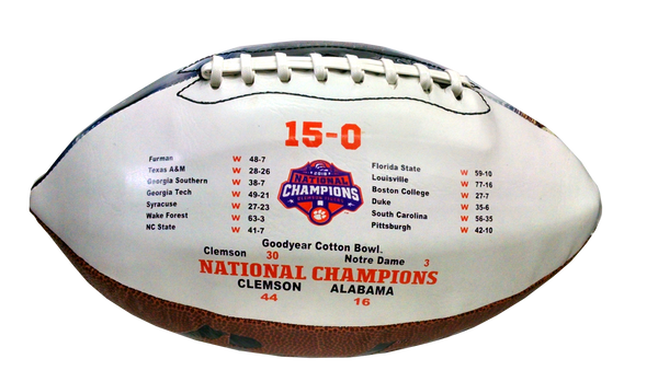 Clemson Limited Edition Stadium Print Football