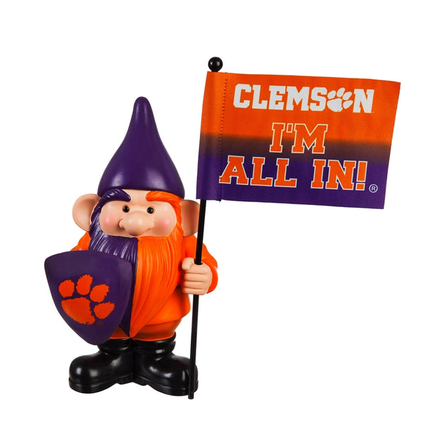 Clemson University Garden Gnome with Flag
