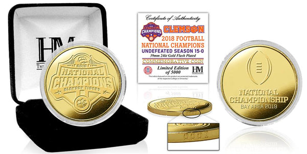 Clemson Tigers 2018 Football National Champions Gold Mint Coin