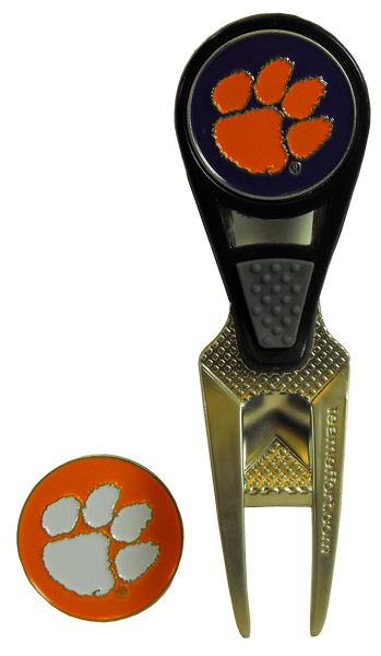 Clemson Golf Ball Markers and Repair Tool