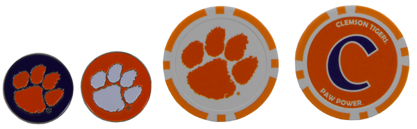 Clemson Golf Ball Marker Set
