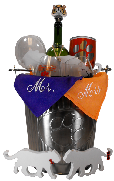Clemson Metal Ice Bucket
