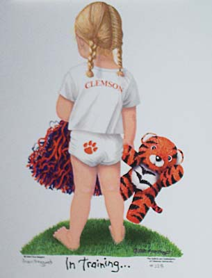 "Clemson ""Tiger in Training"" Print - Little Girl"