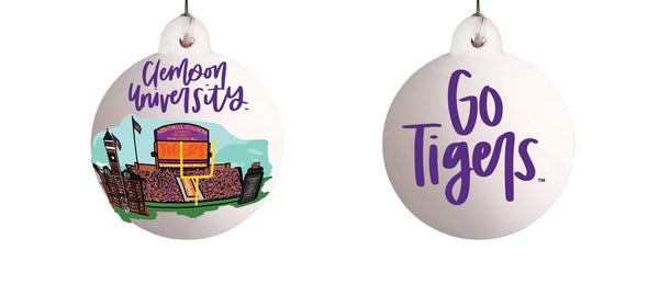 Clemson Landmarks Ceramic Ornament