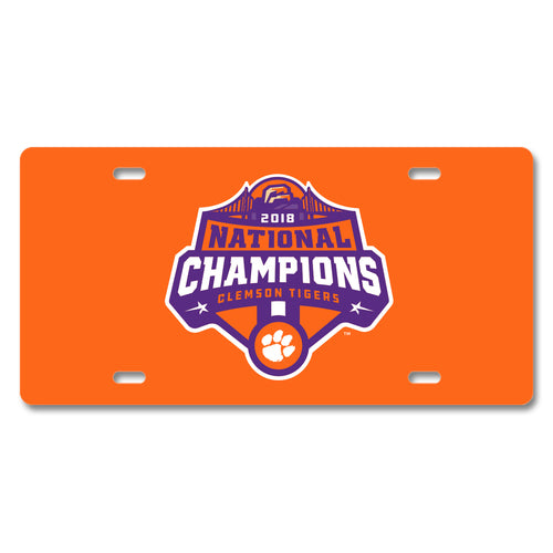 Clemson University 2018 National Champions License Plate