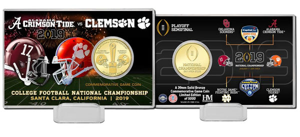 2019 College Football National Championship Game Dueling Bronze Coin