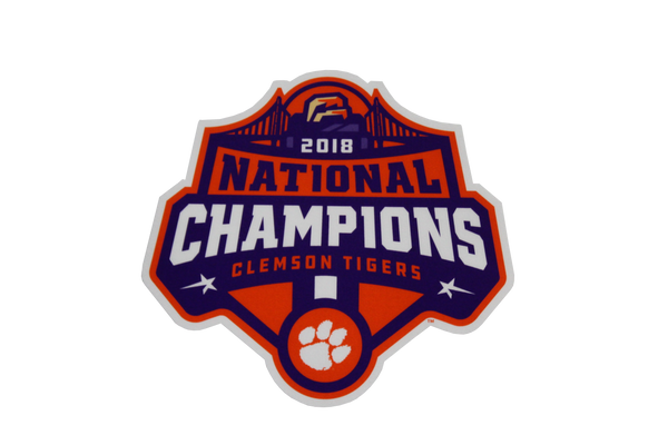 Clemson 2018 National Champions Vinyl Decal