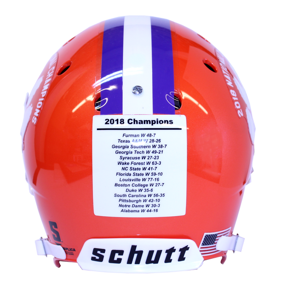 Clemson 2018 National Championship Full-Size Replica Helmet