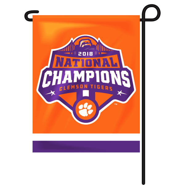 Clemson 2018 National Championship Logo House or Garden Flag
