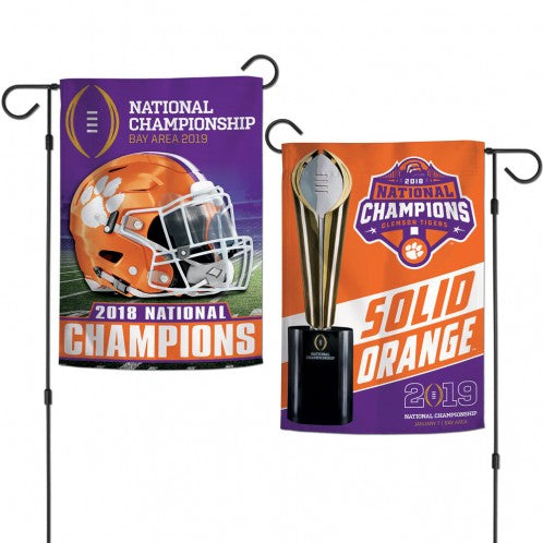 Clemson 2018 National Championship 2-Sided Garden Flag