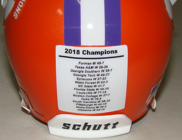 Clemson 2018 National Championship Mini Helmet