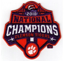 Clemson 2018 National Champions Official Logo Patch