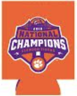Clemson 2018 National Championship Orange Koozie