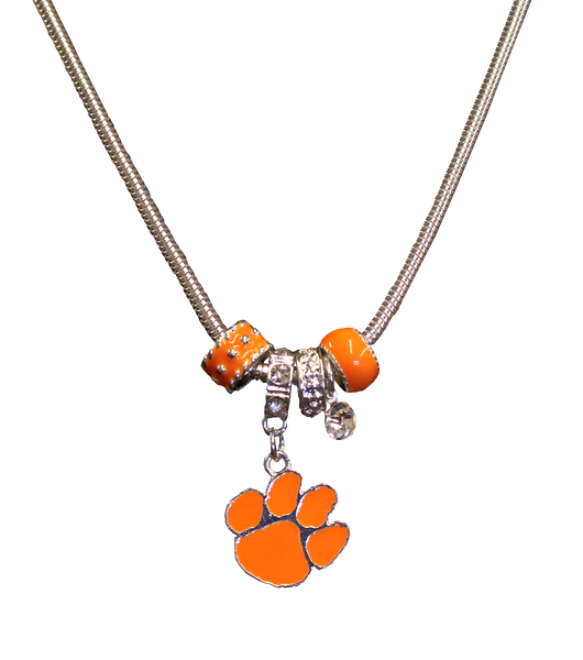 Clemson Orange Charm Necklace