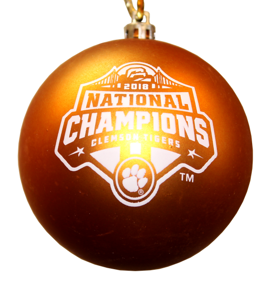 Clemson 2018 National Championship Orange Ball Ornament