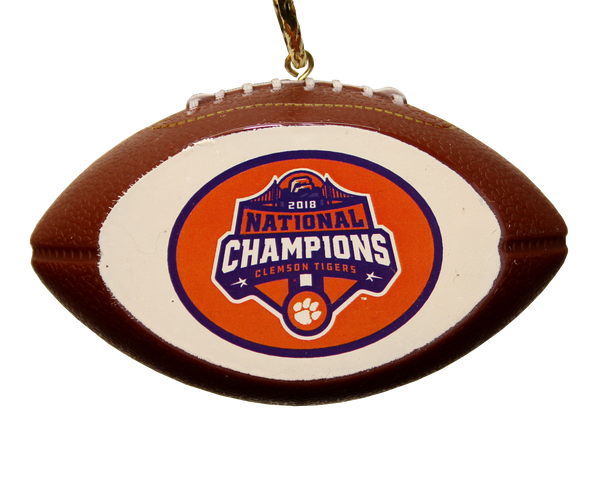 Clemson 2018 National Championship Football Ornament