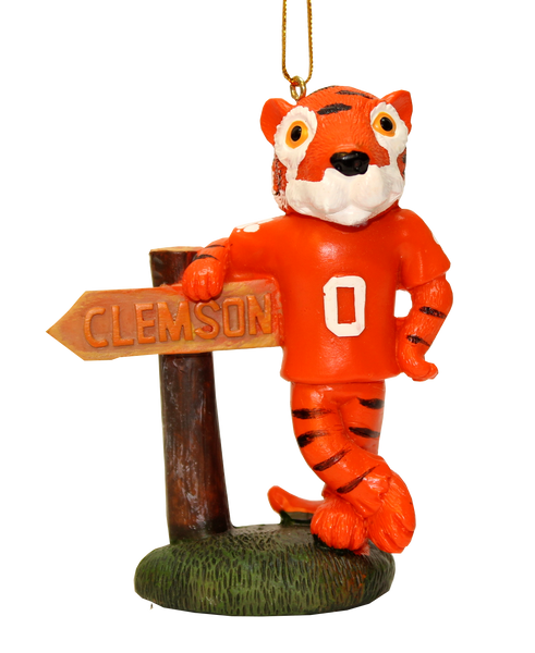 Clemson Tiger Mascot and Sign Ornament