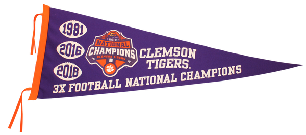 Clemson 2018 National Championship Pennant
