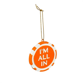 Clemson All In Poker Chip Ornament