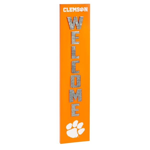 Clemson Porch Leaner Welcome Sign