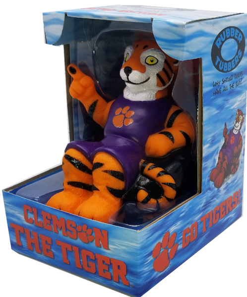 Clemson Rubber Tiger Bath Toy