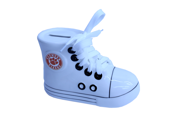 Clemson Ceramic Athletic Shoe Bank