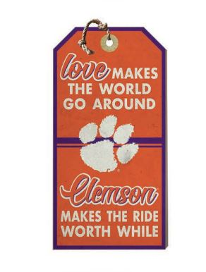 "Clemson ""Hang Tag"" Sign"